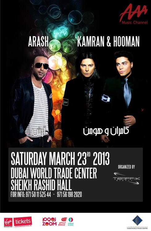 Arash, Kamran & Hooman Live In Dubai