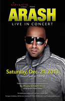 Arash Live In Concert in New York