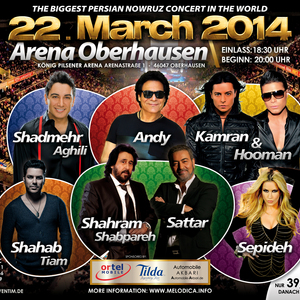 Andy Live at Persian Nowruz Concert