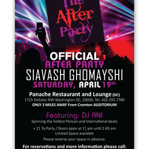 Official After Party Siavash Ghomayshi
