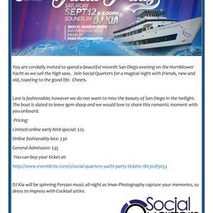 Social Quarters Yacht Party