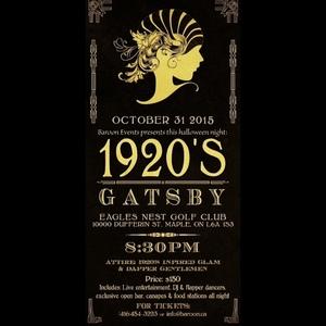 Gatsby Halloween Party 2015